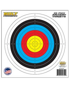 """BOLT CROSSBOWS 20 Pack of 11"""" x 11"""" Paper Targets"""